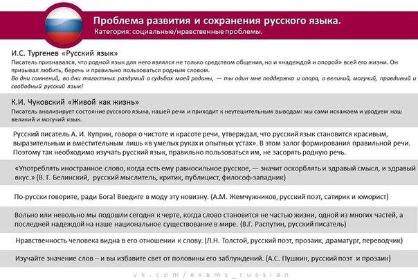 Аргументы к проблеме состояния русского языка преступление и наказание говорили